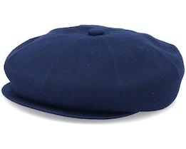 Bamboo Hawker Dk Blue Flat Cap - Kangol