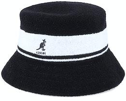 Bermuda Stripe Black Bucket - Kangol