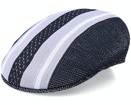 Vented Stripes 504 Black/Grey Flat Cap - Kangol