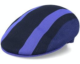 Sym Stripe 504 Black Flat Cap - Kangol