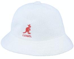 Big Logo Casual White Bucket - Kangol