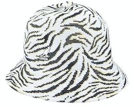 Carnival Casual White Zebra Bucket - Kangol