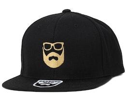 Logo Black/Gold Snapback - Bearded Man