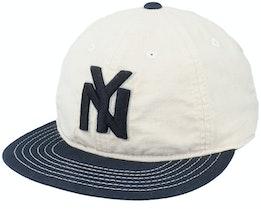 New York Black Yankees Line Out Ivory/Black Strapback - American Needle