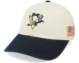 Pittsburgh Penguins Pittsburgh Penguins United Slouch Ivory/Black Dad Cap - American Needle