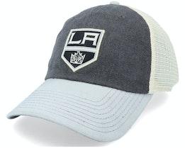 Los Angeles Kings Hanover Ivory & Black & Grey Trucker - American Needle
