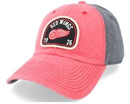 Detroit Red Wings Gunner Black & Red Dad Cap - American Needle
