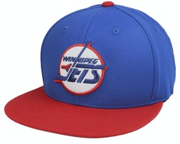 Winnipeg Jets Archive 400 Royal/Red Snapback - American Needle