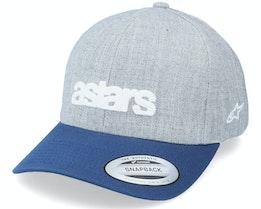 History Hat Grey Heather Grey./Blue Adjustable - Alpinestars