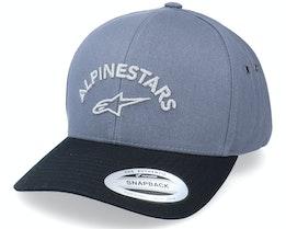 Arced Hat Charcoal./Black Adjustable - Alpinestars