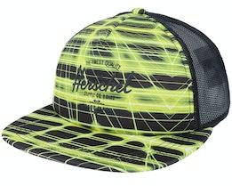 Whaler Mesh Neon Grid Black Trucker - Herschel