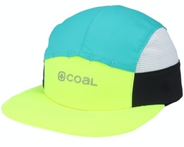 Deep River Cap Neon Yellow 5-Panel - Coal