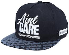 Aint Care Black Snapback - Hoonigan