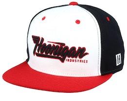 Factory Team White/Black/Red Snapback - Hoonigan