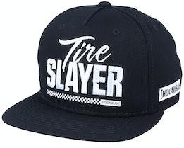 Tire Slayer 2.0 6-Panel Black Snapback - Hoonigan