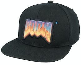 DOOM Logo Black Snapback - Difuzed