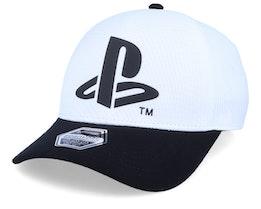 Playstation Logo Seamless White Flexfit - Difuzed