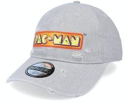 Pac-Man Logo Denim Grey Dad Cap - Difuzed