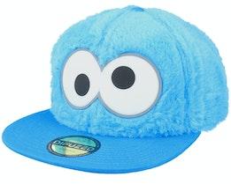 Sesamestreet Cookie Monster Novelty Fur Blue Snapback - Difuzed