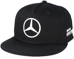 Lewis Hamilton Drivers Cap Black Snapback - Mercedes
