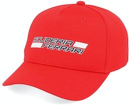 Ferrari Fw Kids Scuderia Logo Bb Cap Red Adjustable - Formula One