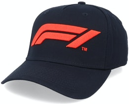 Large Logo Baseball Cap Black/Red Adjustable - Formula One