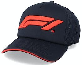 Large Logo Black/Red Trucker - Formula One