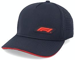 Tech Baseball Cap Black/Red Adjustable - Formula One