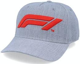 Large Logo Baseball Cap Grey Adjustable - Formula One