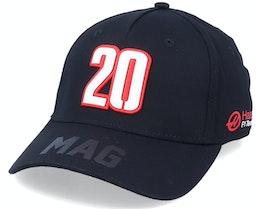 Haas Mag Driver Cap Black/Red Adjustable - Formula One