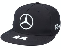 Mercedes Mapm Rp Lewis Driver Flatbrim Cap Black Snapback - Formula One