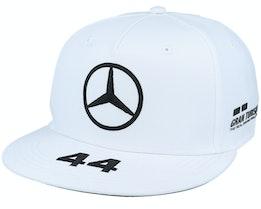 Mercedes Rp Lewis Driver Flatbrim Cap White Snapback - Mercedes