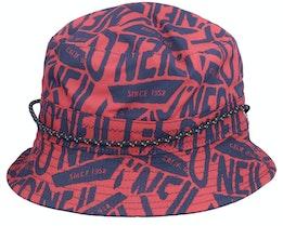 Kids Reversible Hat Blue Aop Red/Navy Bucket - O'Neill