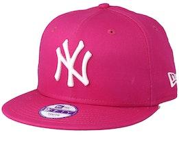 Kids NY Yankees League Basic Hot Pink 9Fifty Snapback - New Era