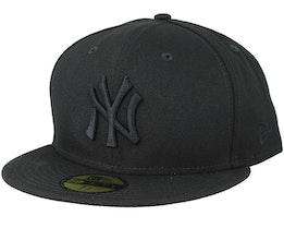 New York Yankees MLB Basics Black/Black 59Fifty Fitted - New Era