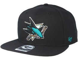 San Jose Sharks Sure Shot Black Snapback - 47 Brand