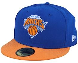 New York Knicks Basic 59Fifty Blue/Orange Fitted - New Era