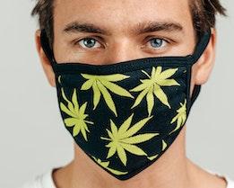 1-Pack Plantlife Black Face Mask - HUF