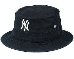 New York Yankees Black/White Bucket - 47 Brand