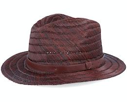 Messer Straw Fedora Brown Straw Hat - Brixton