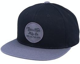 Wheeler Black/Charcoal Snapback - Brixton
