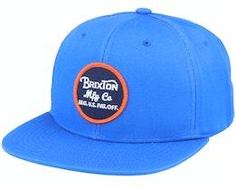 Wheeler River Blue/Orange Snapback - Brixton