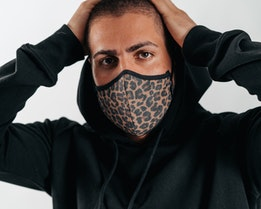 Antimicrobial Leopard Face Mask - Brixton