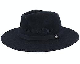 Messer Knit Packable Black/Black Fedora - Brixton