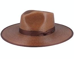 Jo Straw Rancher Brown Straw Hat - Brixton