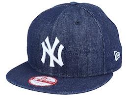 NY Yankees Denim Basic Navy 9Fifty Snapback - New Era