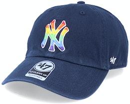 New York Yankees Pride Clean Up Navy/Rainbow Adjustable - 47 Brand