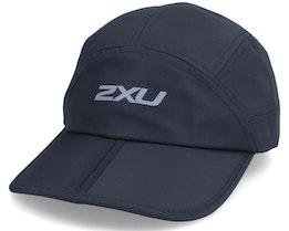 Packable Run Cap Black/Silver Reflective 5-Panel - 2XU