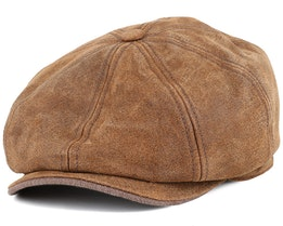 Burney Pig Skin Flat Cap - Stetson