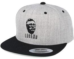 Legend Grey/Black Snapback - Forza
